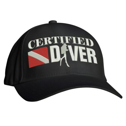 Scuba Underwater Divers Hat Embroidered Design Certified Diver Baseball Cap
