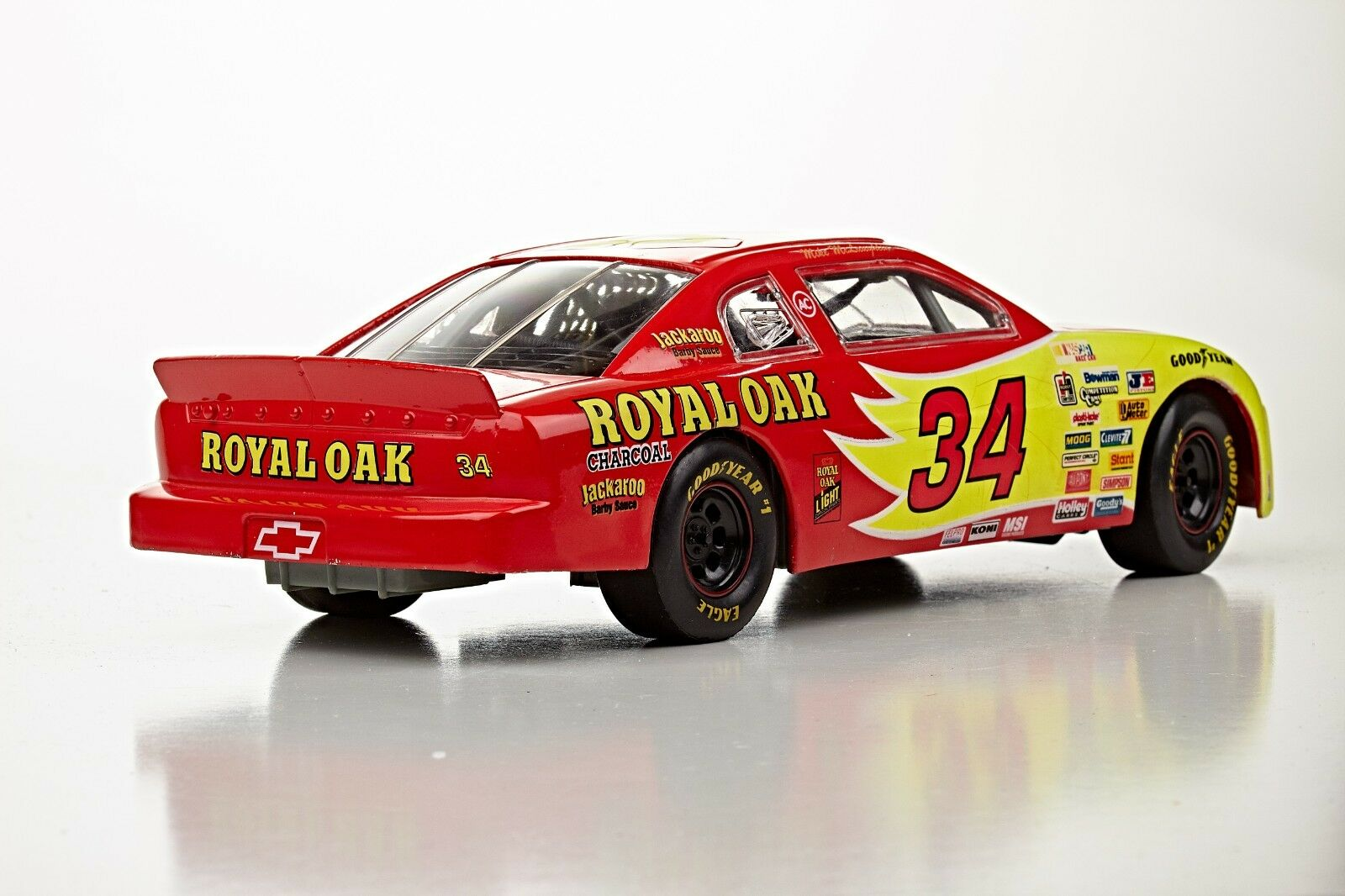 -1 18 18 18 Racing Champions 1996 Nascar Royal Oak charcoal  car 2381e5