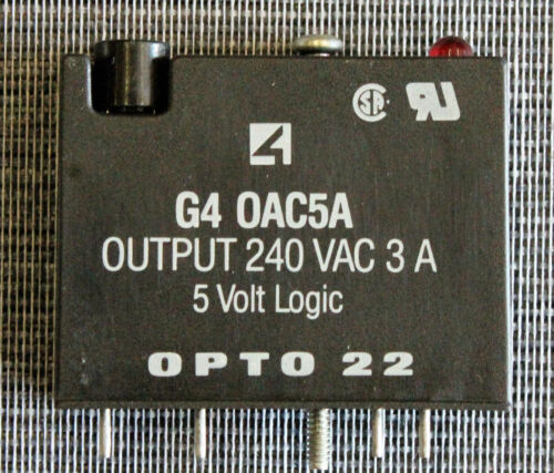OPTO 22 G4 OAC5A 240VAC 3A 5 VOLT LOGIC DIGITAL OUTPUT I//O MODULE