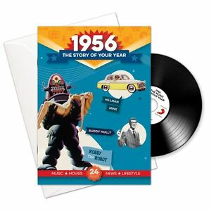 62nd Anniversary or Birthday gifts ~ Booklet , Music & Card; 1956 in one present