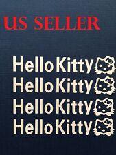 Set Of 4 Hello Kitty Car Sticker / Window / Wall / / LapTop / iPad Sticker  #26