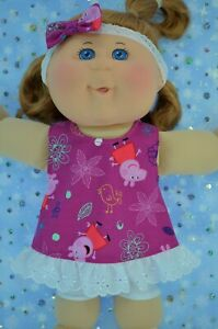 PlaynWear-Dolls-Clothes-For-14-034-Cabbage-Patch-PATTERN-TOP-LEGGINGS-HEADBAND