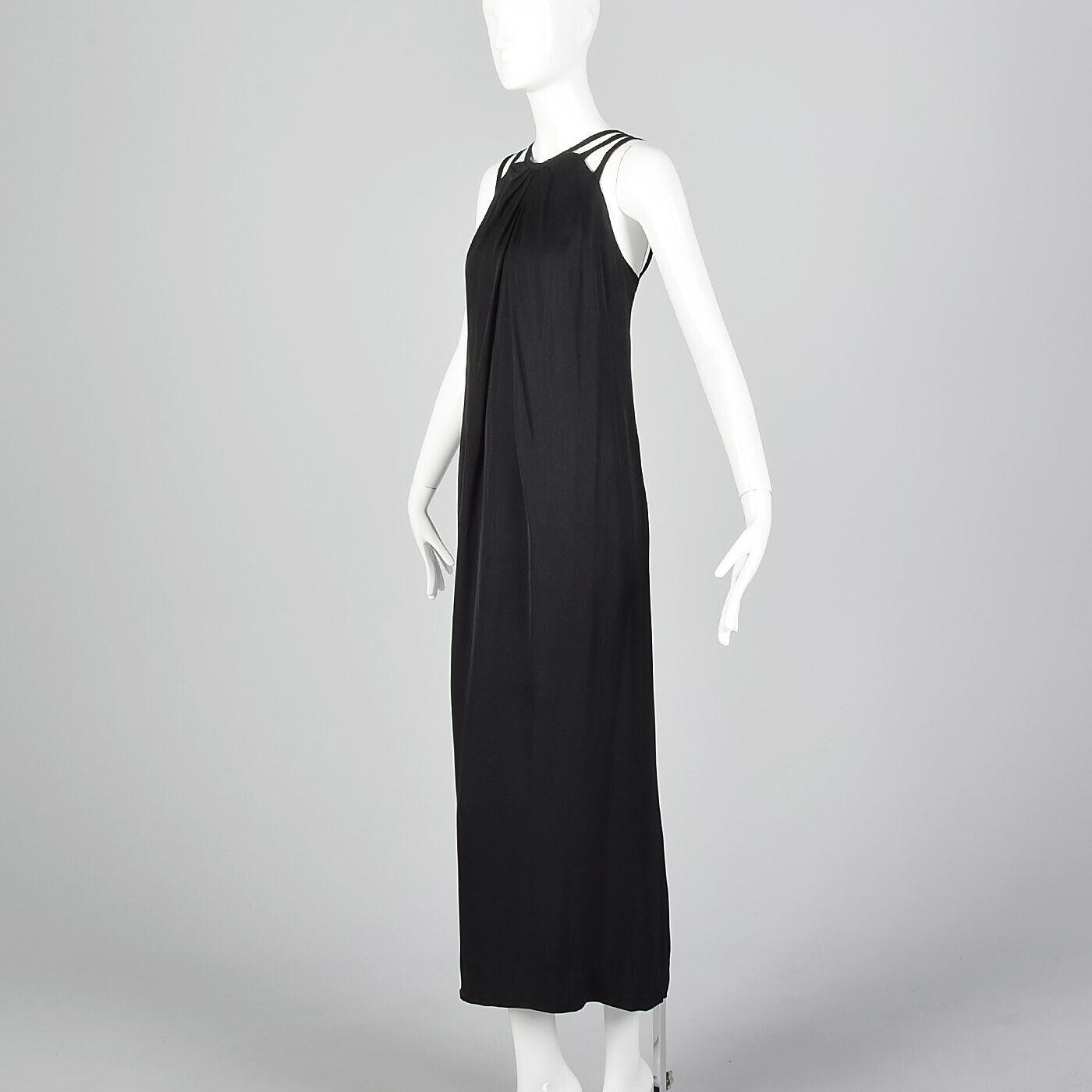 XXS 1960s Ceil Chapman Evening Dress Designer Bla… - image 2