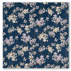 Antiques Other Asian Antiques Responsible Piccolo Blu Navy Fiori Di Ciliegio Giapponese Furoshiki Bringing More Convenience To The People In Their Daily Life
