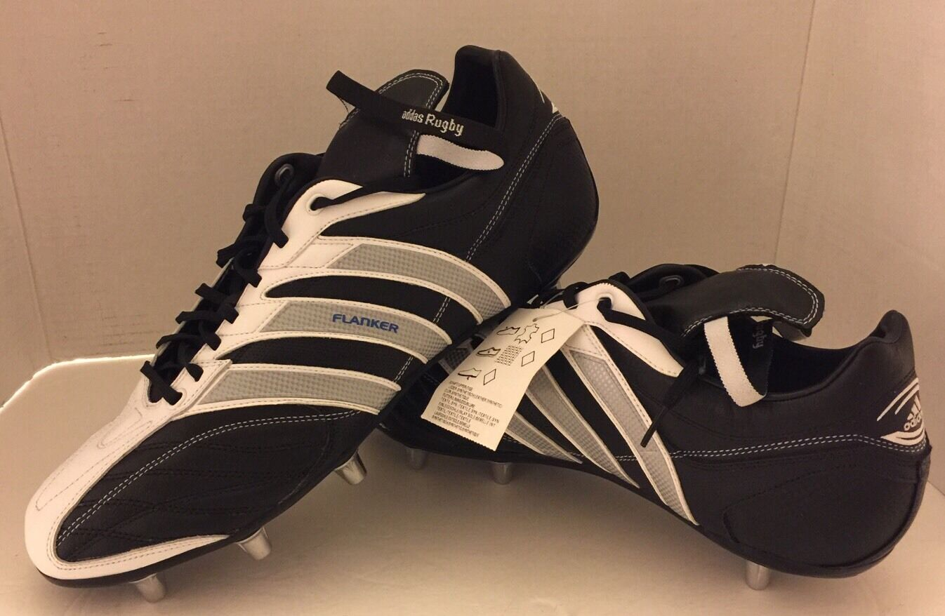 New Adidas Flanker III Rugby Baseball Football Soccer 14.5 Uomo Cleats Pelle