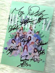Details about Signed IZ*ONE izone HEART*IZ Miyawaki Sakura Honda Nako  Yabuki ALL12 Autograph