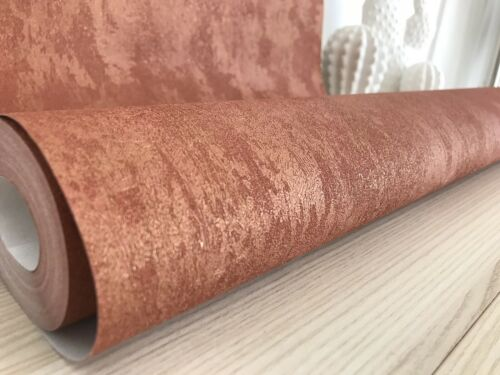 Vliestapete rostrot Kupfer matt Vintage Shabby Chic 58019 Marburg