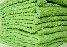 Washcloths Lime Green  Rags Wash Cloths Cotton Towels Face Soft Fluffly 18 Lot