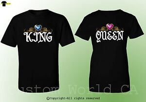 King Queen Design Fashion Couple Shirts Bf Gf His And Hers Match