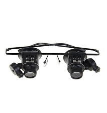 Binocular Glasses Type 20X Watch Repair Magnifier with LED Light
