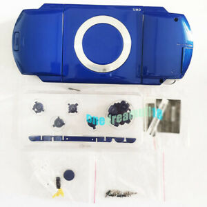 New-Blue-For-PSP1000-PSP-1000-Console-Full-Housing-Shell-Case-Repair-With-Parts