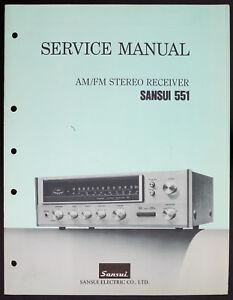 SANSUI-551-ORIGINAL-AM-FM-Estereo-Receptor-MANUAL-DE-SERVICIO-Diagrama-o152
