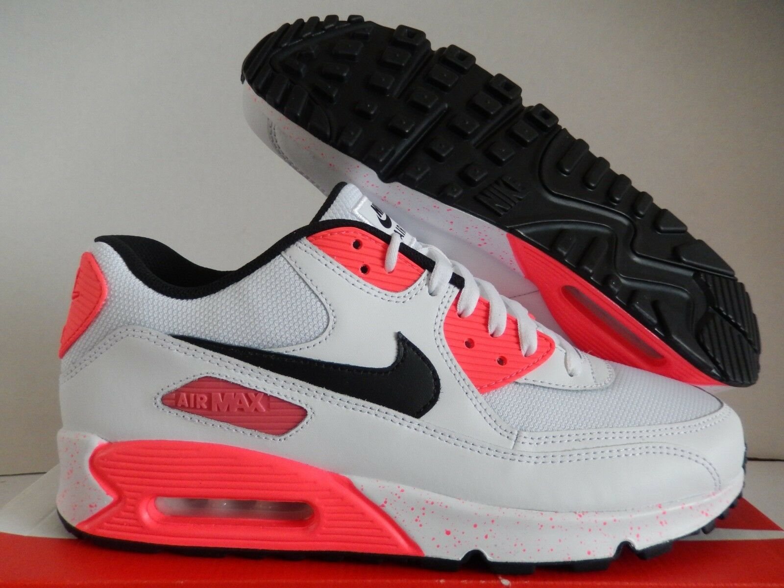 NIKE AIR MAX 90 ID WHITE-INFRARED-BLACK SZ 11 MESH TOE   [931902-994]