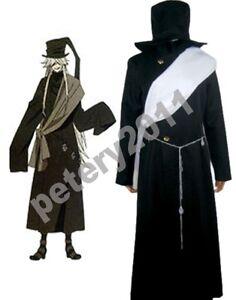 Image Is Loading Black Butler Kuroshitsuji Grim Reapers Undertaker Cosplay Costume
