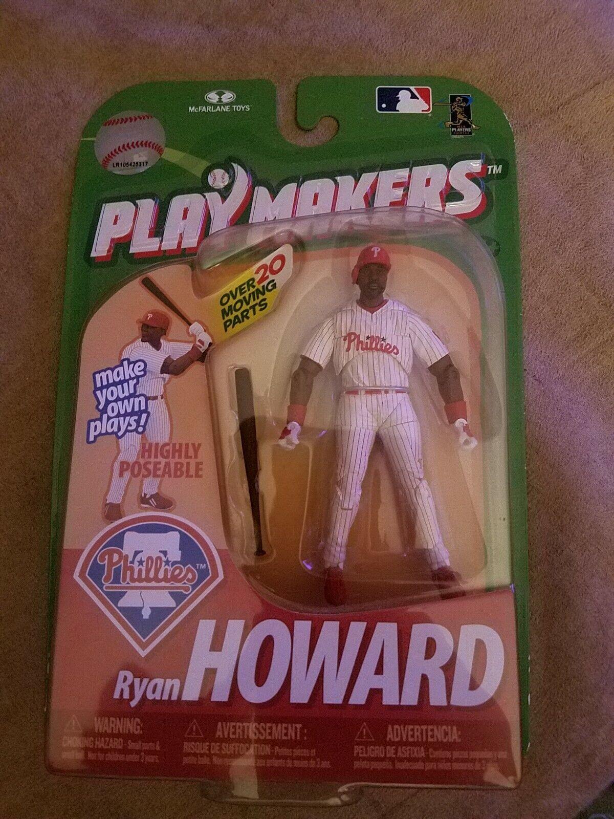 MLB Baseball Ryan Howard Phillies Playmakers McFarlane Toys Figure NIB