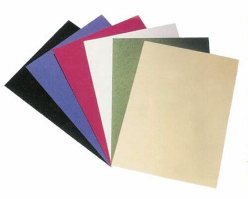 Rückwände Deckblätter genarbter Lederkarton 250gr A4 weiß Plastik Draht Bindung