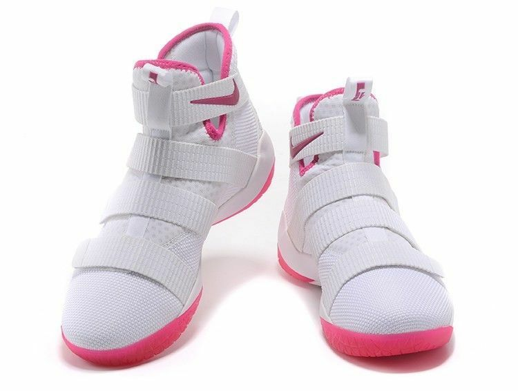 NIKE LEBRON SOLDIER 11 XI 897644-102 Multiple Sizes Breast Cancer Kay Yow