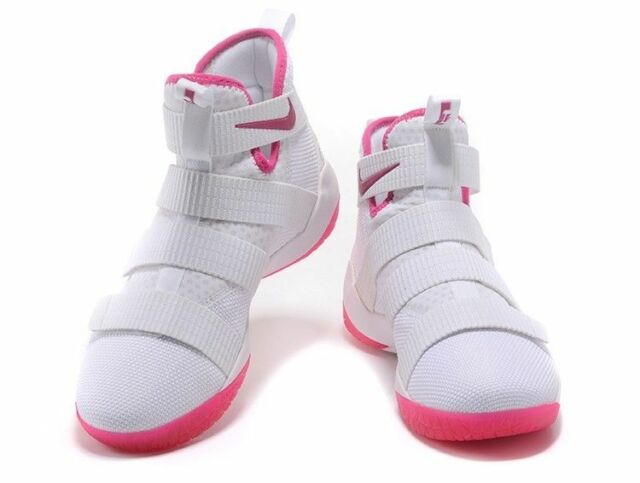 new products bb312 5d8bf Nike Lebron Soldier XI White/pink Breast Cancer Kay Yow 897644 102 Sz 11.5