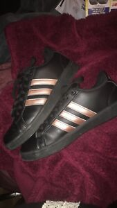 Details about womens Adidas neo Black and rose gold size 8.5