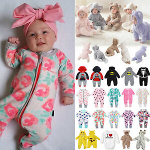 Baby-Toddler-Girls-Long-Sleeve-Romper-Bodysuit-Jumpsuit-Clothes-Outfits-Newborn