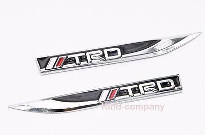 2pcs H hot metal Car Side Fender Skirt Knife decal Sticker Badge Emblem For TRD