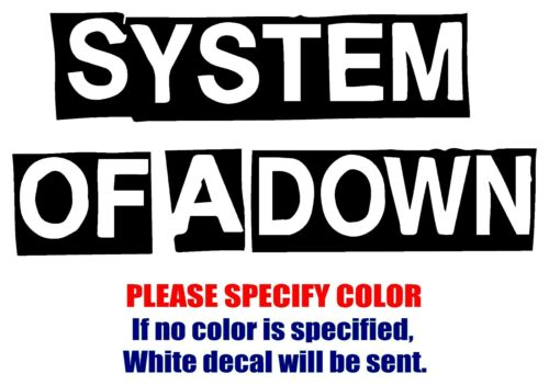 "System Of A Down Band Rock JDM Vinyl Decal Car Sticker Window bumper Laptop 12/"""