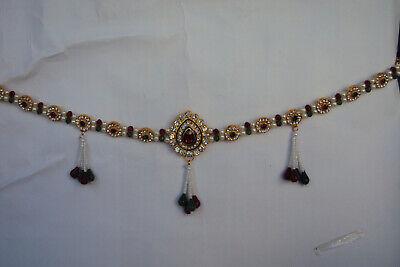Indian Bridal Ethnic Traditional Kamar Bandh Silvertone Waist Belt Women Jewerly