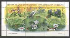 Moldova 2008 Flowers/Dragonfly/Heron/Frog/Birds/Insects/Nature 3v m/s (n20963)