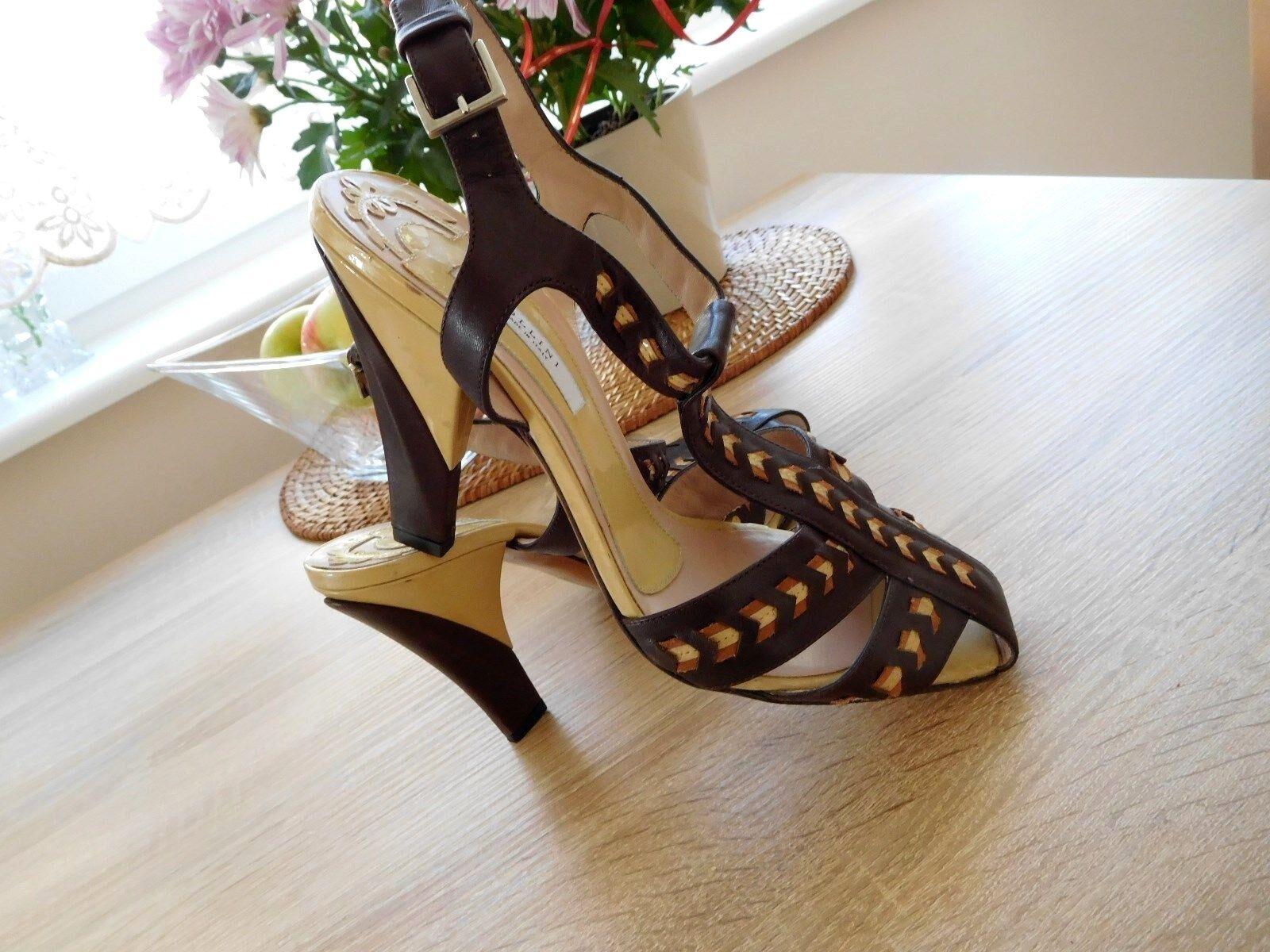 Einzigartige Einzigartige Einzigartige hochwertige Schuhe von POLLINI 100% Original gr.39 Schokobraun=NEU 2b6e53