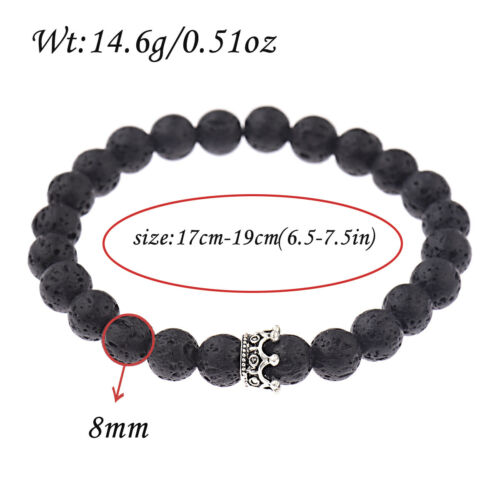Couple roi reine couronne Bracelets son et son amitié 8 mm perles bracelets NEUF