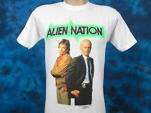 vintage-1990-ALIEN-NATION-TV-SHOW-PAPER-THIN-T-Shirt-SMALL-sci-fi-movie-80s-90s