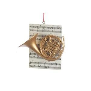Trombone or Horn Ornament NEW Instrument w// Sheet Music Saxophone Trumpet