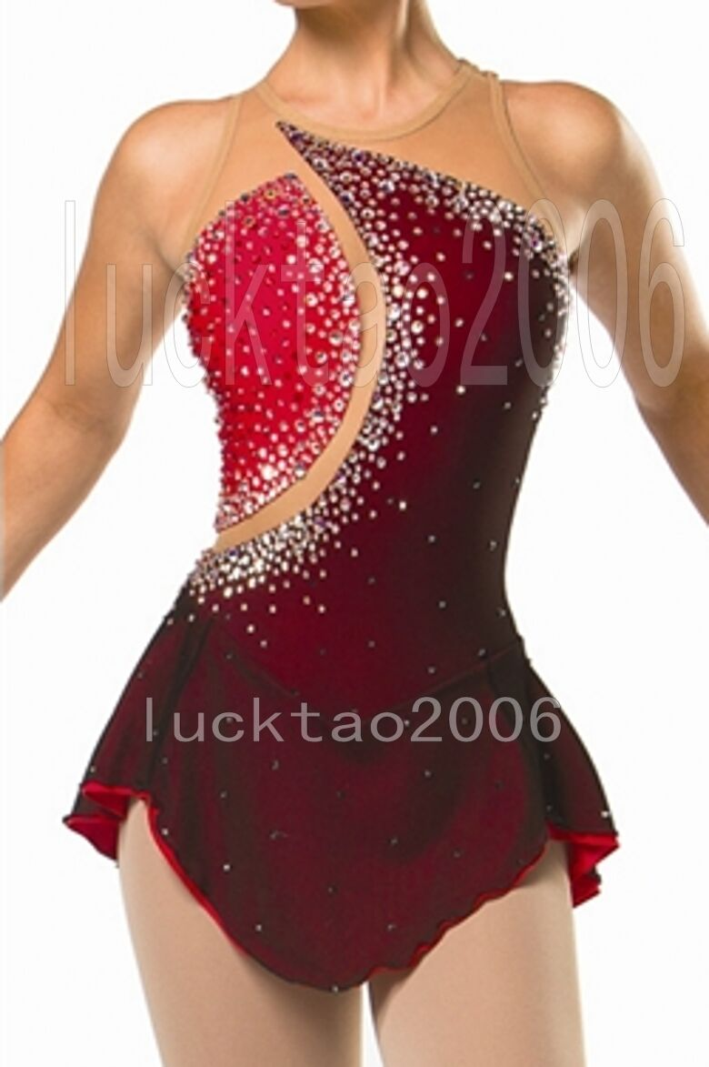 2018 new style Figure Skating Ice Skating  Dress Sparkle Brand icefairy  classic style