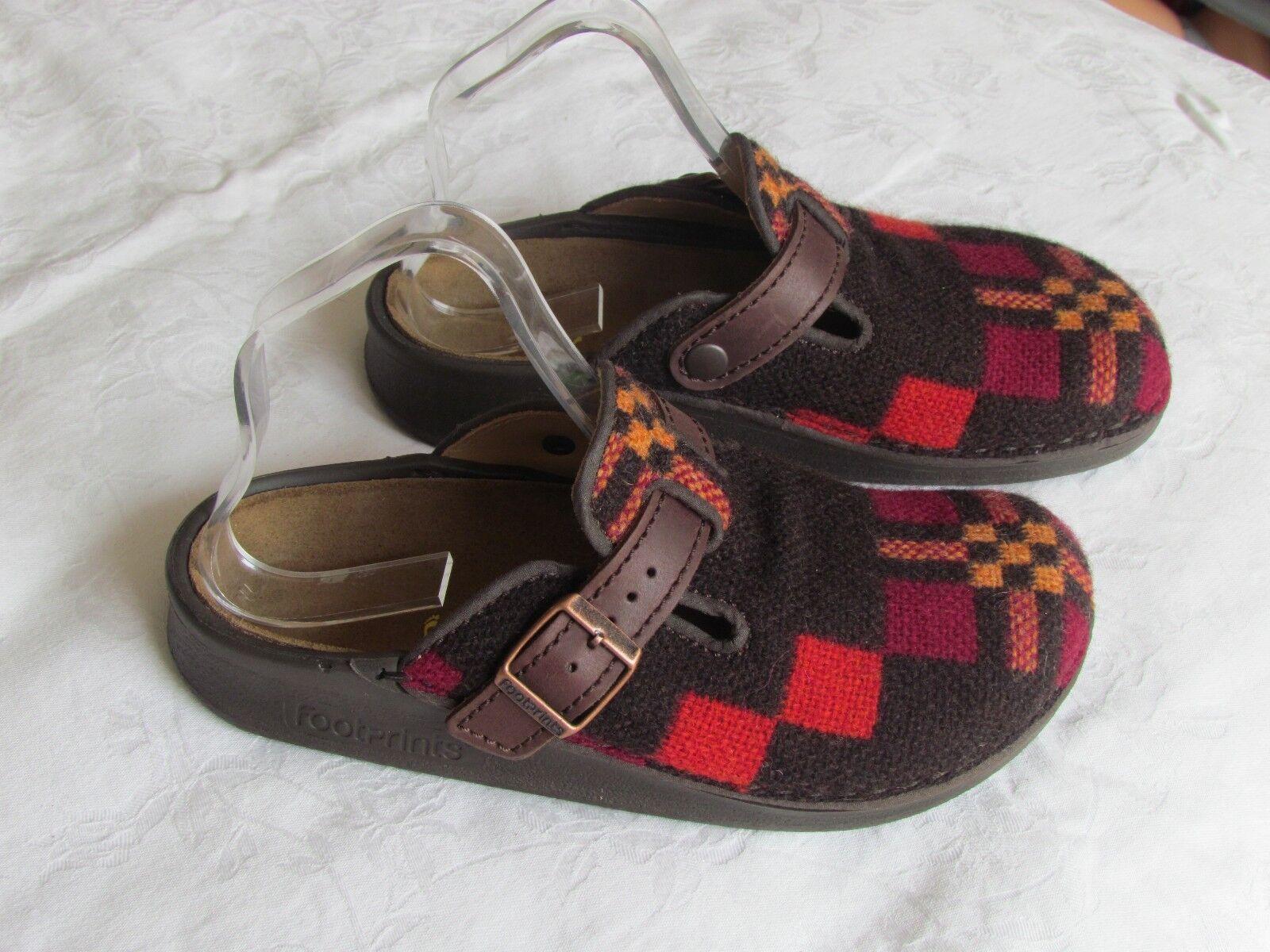 RARE NEW Birkenstock Ladies Ladies Birkenstock Brown & Orange Clogs Sandals Slippers Size 5 25ccae