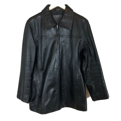 Coach Black Leather Zip Up Motorcycle Butter Soft