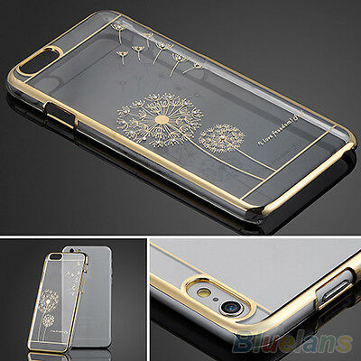 Fashion Slim Crystal Transparent Back Skin Case Cover For iPhone 5 5S 6 6 Plus
