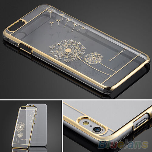 Beautiful Slim Crystal Transparent Back Skin Case Cover For iPhone 5 5S 6 6 Plus