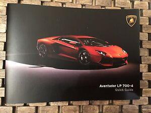 Pre-Owned OEM Lamborghini Aventador LP 700-4 Roadster Quick Guide Handbook