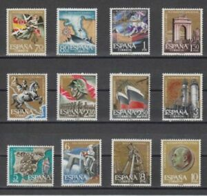 SPAIN-1961-MNH-COMPLETE-SET-SC-SCOTT-992-1003-25th-ANNI-NATIONAL-UPRISING