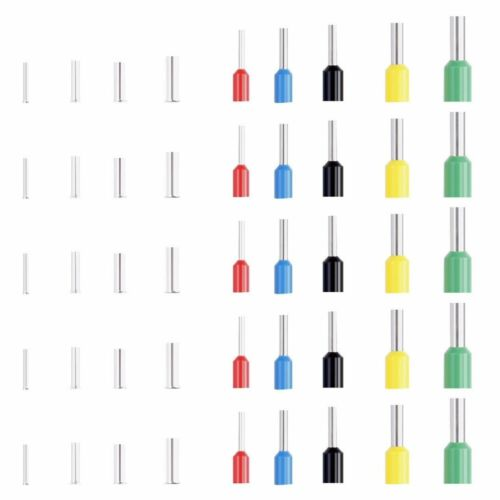 1640tlg Aderendhülsen Set Sortiment 4.0-0.5mm² Aderendhülse isoliert Kabelschuhe