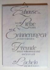 Dekofliese Wandbild Bildfliese Zu Hause Spruch (051DP) Handarbeit 15x20cm