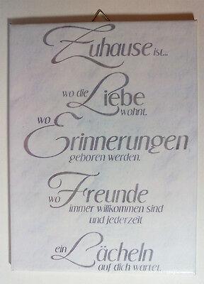 Dekofliese Wandbild Bildfliese Zu Hause Spruch (051dp) Handarbeit 15x20cm Jahre Lang StöRungsfreien Service GewäHrleisten