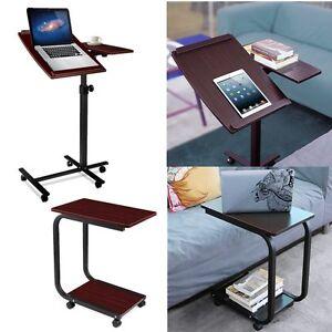 computertisch laptoptisch laptopst nder auf 360 rollen beistelltisch pc tisch ebay. Black Bedroom Furniture Sets. Home Design Ideas