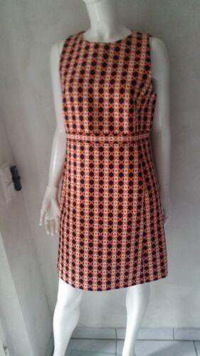 Hallhuber Gr 42 neu Kleid Multicolor schwarz Euro129 90 Orange Uvp uk14 rxqxU6Iwg