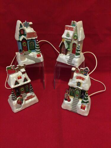 Hallmark Caroling Cottages 2009 Set of 4