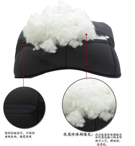 2Pc Schwarz Farbe Echtleder Autositz Nackenkissen Auto Kopfstütze Für Mitsubishi