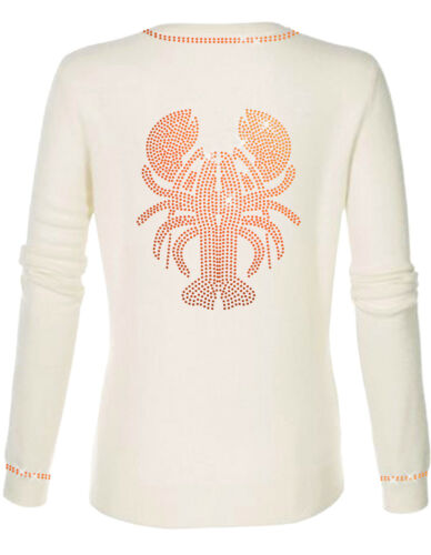 Astice Oh Luxe Arancione Cashmere 100 Lobster Dor Lusso ` Pullover Bianco 8HxHBqwU