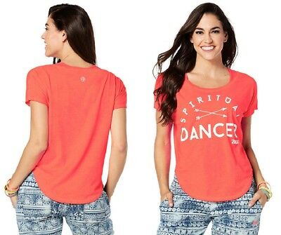 Zumba Spiritual Dancer Tulip Top Coral XL NEW limited quantities
