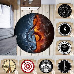 Guitar-Music-Non-slip-Round-Soft-Area-Rug-Floor-Carpet-Door-Mat-Home-Decor