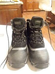 NWOB-Men-039-s-Khombu-Thermolite-Black-Leather-Hiking-Boots-Size-11M